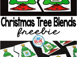 Christmas Tree Blend Puzzles is the perfect addition to your literacy centers this holiday season. This free printable is great for kindergarten, first grade, and second grade students.