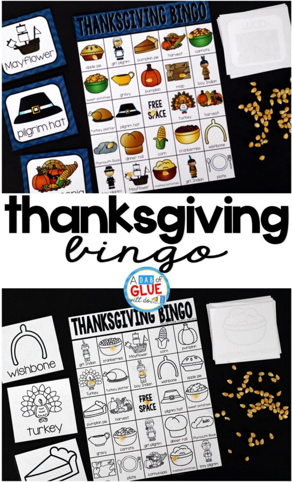 Play Bingo with your elementary age students for a fun Thanksgiving themed game! Perfect for large groups in your classroom or small review groups. Add this to your Thanksgiving lesson plans with 30 unique Halloween Bingo boards with your students! This is a great way to introduce or review everything about Thanksgiving. Students will not even know that they are learning. Teaching cards are also included in this fun game for young children! Black and white options available to save your color ink.