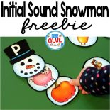 Initial Sound Snowman Square