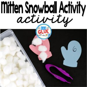 Mitten Snowball Counting Activity