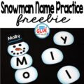 Snowman Names - Name Building Practice Printable is the perfect hands-on activity for students to practice making their name. This free printable is perfect for preschool and kindergarten students.