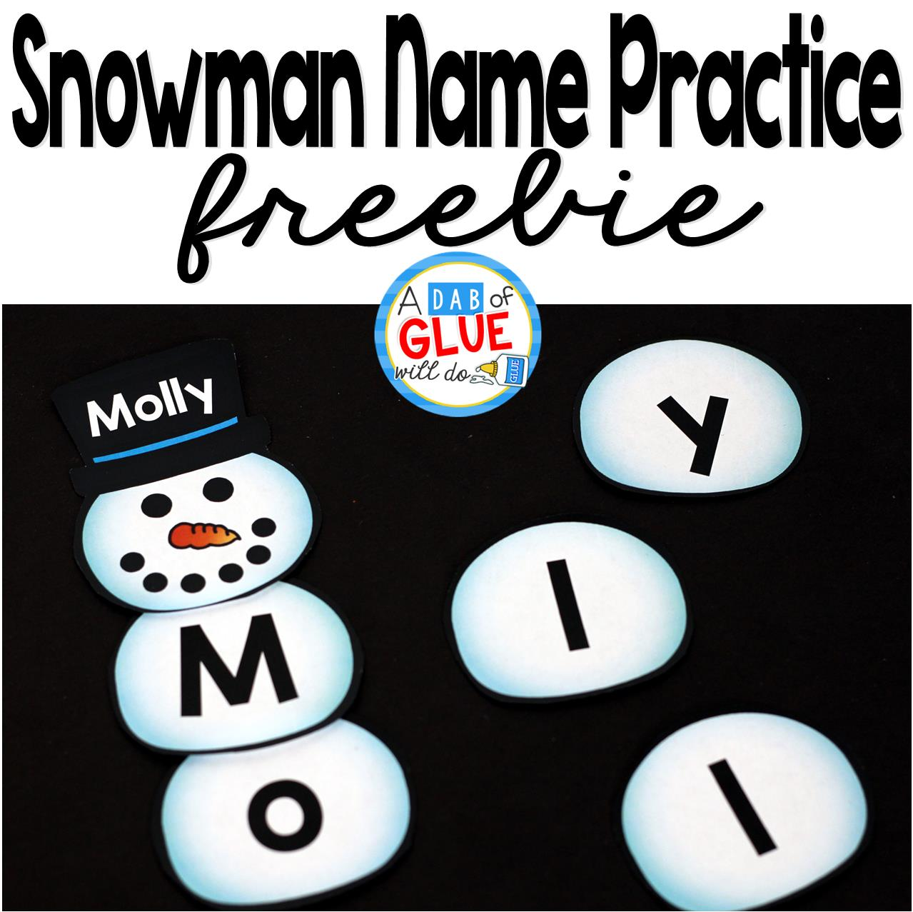 Snowman Name Building Practice Printable is the perfect hands-on activity for students to practice making their name. This free printable is perfect for preschool and kindergarten students.