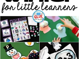 There are so many different winter activities that you can do at home or in the classroom. This page allows you to quickly see our favorite winter ideas, activities and printables that have been featured on A Dab of Glue Will Do.