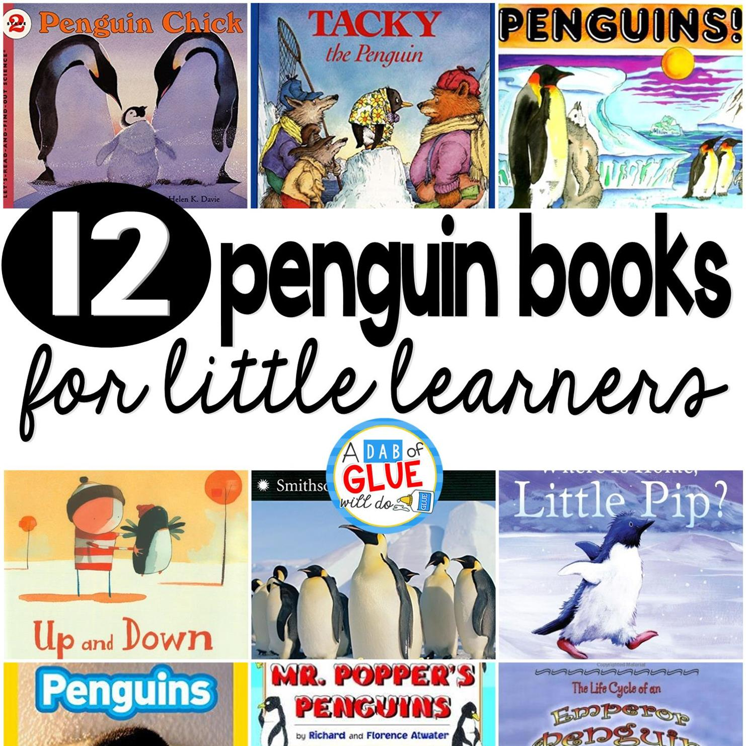 Our 12 favorite penguin books are perfect for your winter and penguin lesson plans. These are great for preschool, kindergarten, or first grade students.
