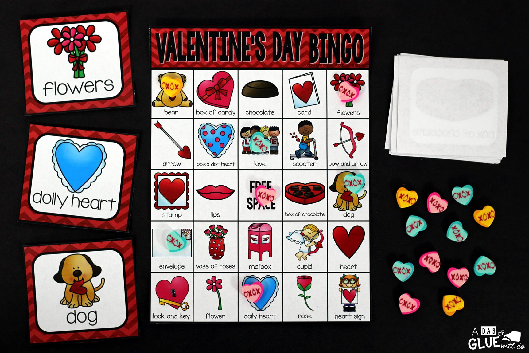 Bingo Sheets For Valentine's Day are just what you need to turn your Valentine's Day classroom into a fun filled game! These are great for learning & fun!