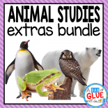This product is the perfect addition if you already own ANIMAL STUDIES: Holiday {Growing} Bundle. If not, check out our ANIMAL STUDIES: Endless {Growing} Bundle so you can get all of the animal studies that we make.   Engage your class in an exciting hands-on experience learning all about animals! Perfect for science in Preschool, Pre-K, Kindergarten, First Grade, and Second Grade classrooms and packed full of inviting science activities.  Students will learn all about the following animals: ants, butterflies, frogs, ladybugs, owls, penguins, polar bears, salmon, sea turtles, and whales. This pack is great for homeschoolers, kids craft activities, and to add to your unit studies!