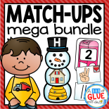 Engage students in learning fun with sound and number match-up learning centers work. This GROWING BUNDLE is perfect for Preschool, Kindergarten, and First Grade classrooms. These match-ups include holiday themed games for your literacy centers and math centers!