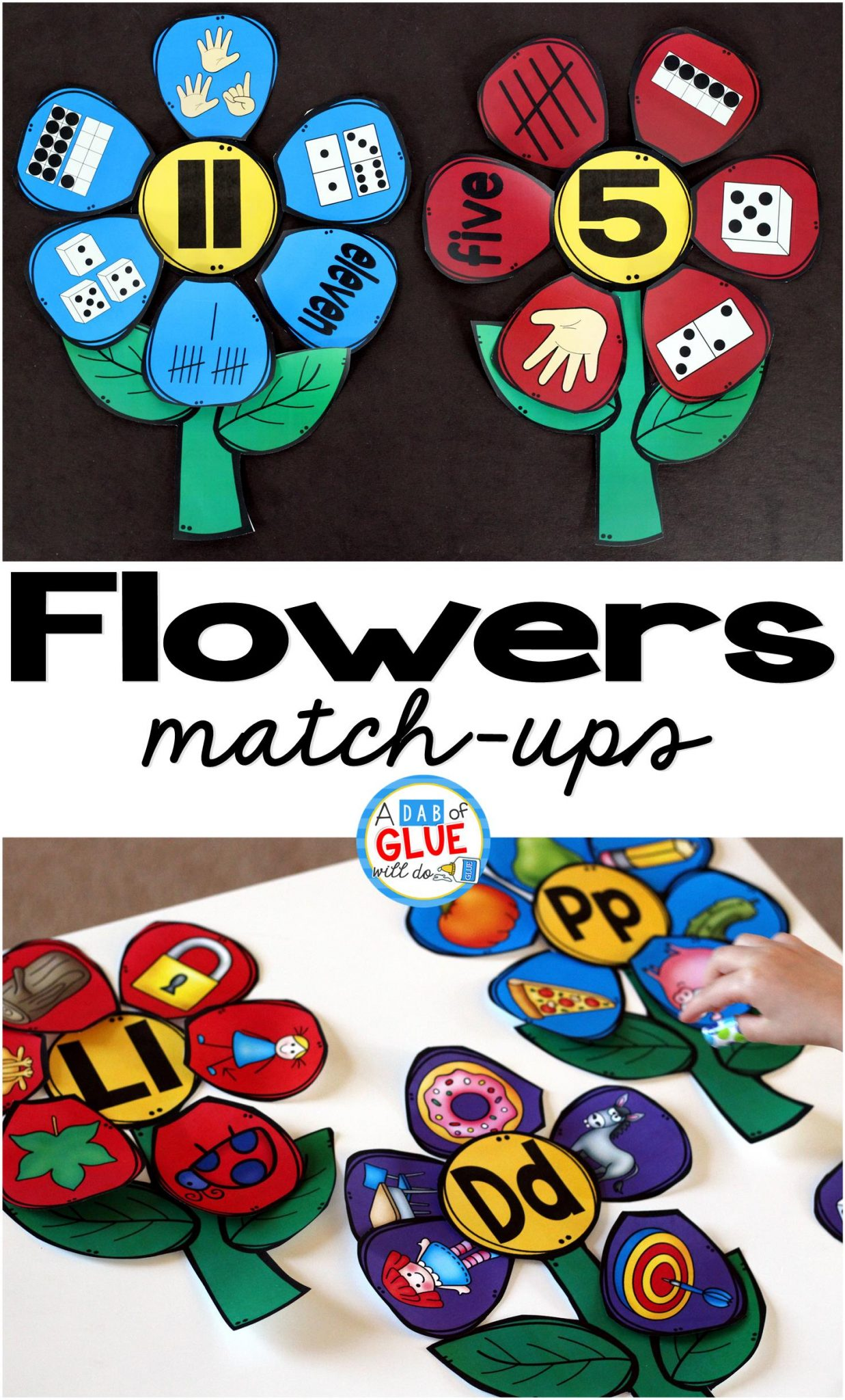 Make learning fun with these these Flowers Initial Sound and Number Match-Ups. Your elementary age students will love this fun spring themed literacy center and math center! Perfect for literacy stations, math stations, or small review groups. Use in your Preschool, Kindergarten, and First Grade classrooms. Black and white options available to save your color ink.