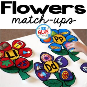Flowers Initial Sound and Number Match-Ups