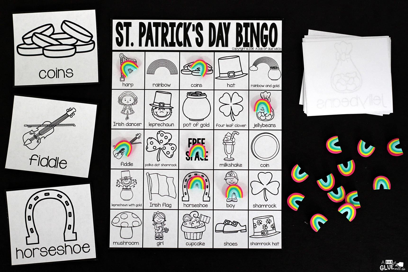 image relating to St Patrick's Day Bingo Printable named Bingo Sheets for St. Patricks Working day -
