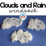 Rain Cloud Windsock Weather Craft is a great addition to your weather science unit this spring. This art activity is perfect for preschool and elementary.