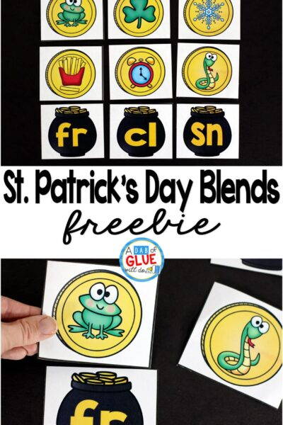 St. Patrick's Day Blend Match-Up is a fun, hands-on way to review blends during the month of March. This free printable is perfect for kindergarten, first grade, and second grade.
