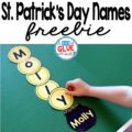 St. Patrick's Day Names – Name Building Practice Printable is a fun, hands-on activity that will have your students building their name in no time. This free, editable printable is perfect for toddlers, preschool, and kindergarten students.