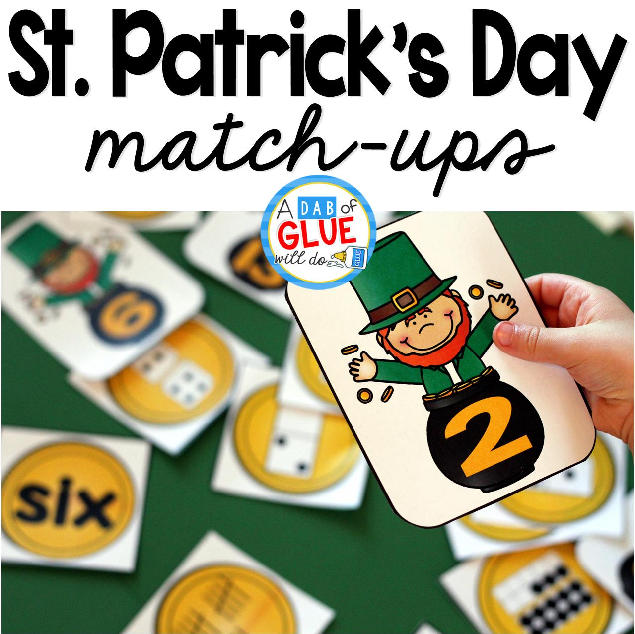 St. Patrick's Day Initial Sound and Number Match-Ups