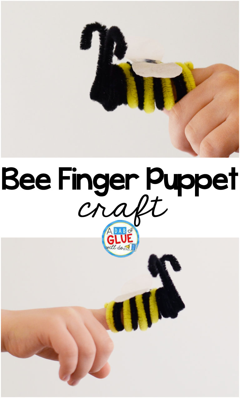 Fancy bee finger puppet template pictures model resume for Bee finger puppet template