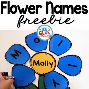 Flower Names – Name Building Practice Printable