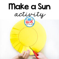 Try this Make A Sun Scissor Skills Activity is the perfect starter project for kids that are just learning how to use scissors!