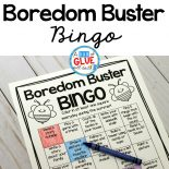 Boredom Buster Bingo, Printable Bingo Game, Freebie Bingo Game, Boredom Buster