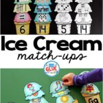 Make learning fun with these themed Initial Sound and Number Match-Ups. Your elementary age students will love this fun ice cream themed literacy center and math center! Perfect for literacy stations, math stations, or small review groups all year long. Use in your Preschool, Kindergarten, and First Grade classrooms. Black and white options available to save your color ink.