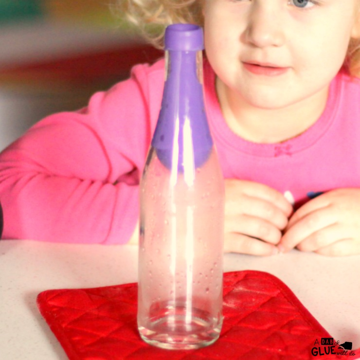 Deliver some major wow factor to a lesson about air pressure by making a balloon magically invert itself into a bottle. After the kids see this inverted balloon in a bottle science trick they will think you went to school at Hogwarts!