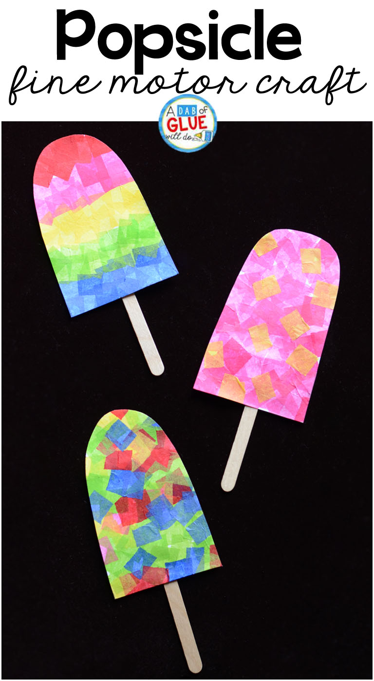 Colorful Popsicle Fine Motor Craft