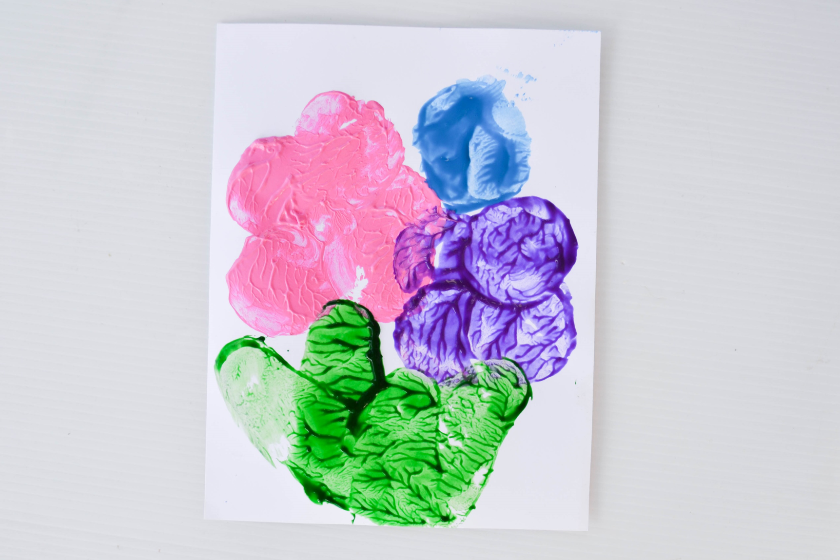 Spring Flower Potato Painting on A Dab of Glue Will Do