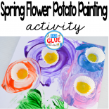 It's time for flowers so get ready to celebrate spring with this spring flower potato painting idea! Perfect for spring gardening project and Mother's Day!
