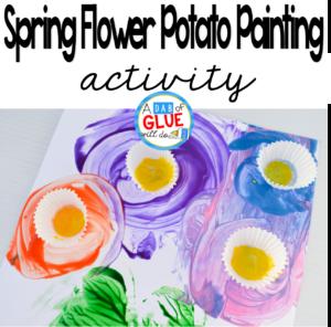 Spring Flower Potato Painting