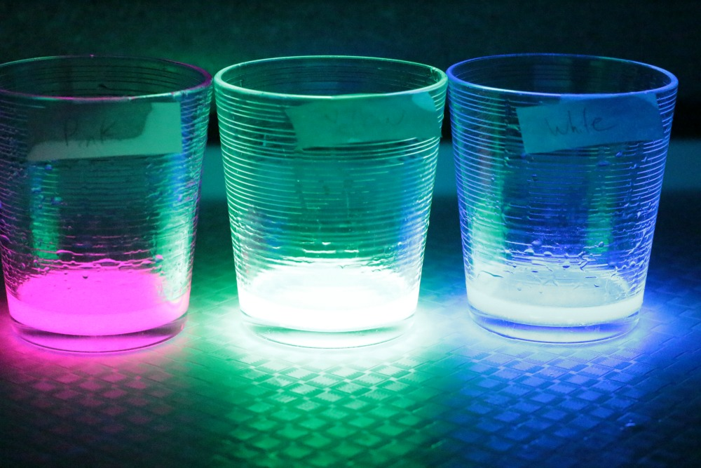 Kids can learn about the chemical properties of glow sticks and how they create glowing light in the glow stick science lab.