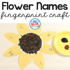 Sunflower Name and Fingerprint Craft