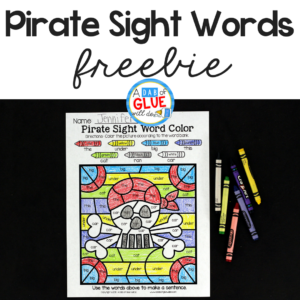 Pirate Color by Sight Word Activity