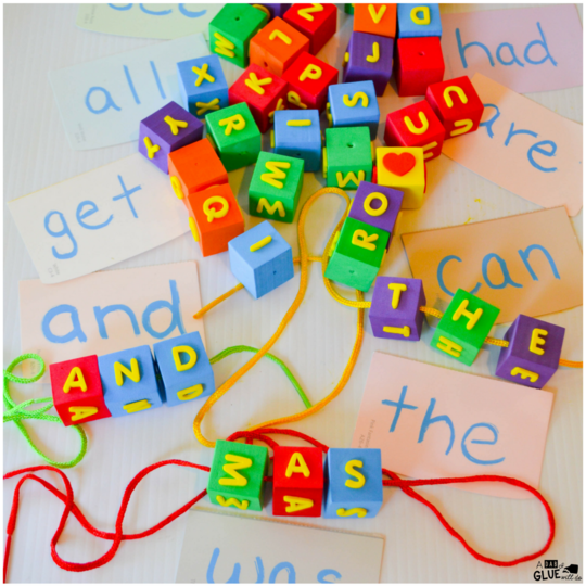 Turn boring flashcards into a multisensory activity to engage your students as they learn to read sight words that you are currently working on. You can use any list of words to adapt this activity to match your students skill level. Lace a sight word activity is simple to set up and fun for children to complete.