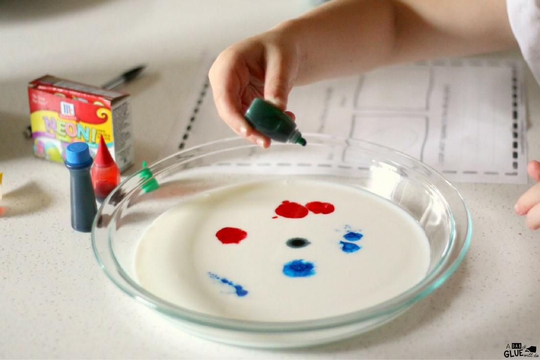 This magic milk science experiment is a classic for kids of all ages. Using common, nontoxic kitchen supplies, the kids will create vibrant art while learning about the science behind the swirling colors that truly makes this experiment magical.
