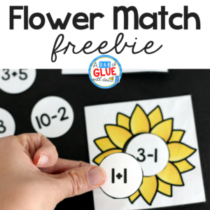 Sunflower Addition and Subtraction Printable