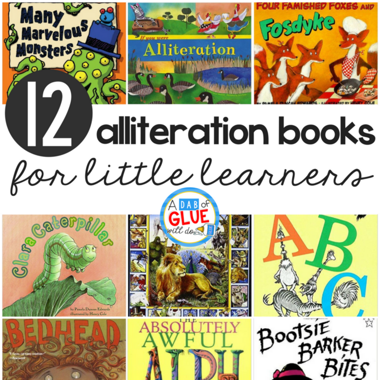 12 Alliteration Books For Little Learners A Dab Of Glue Will Do