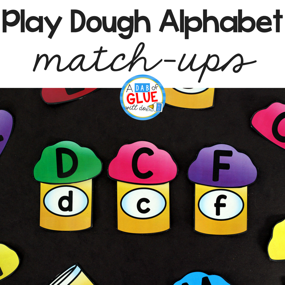 Play Dough Alphabet Match-Ups are a fun, hands-on way for students to practice learning the letters of the alphabet. This free printable is perfect for preschool and kindergarten students.  File type: image/png