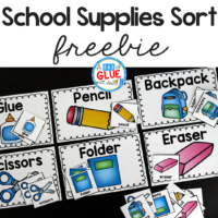 This School Supplies Sort Printable will be the perfect addition to your back to school lesson plans. Students can practice sorting with this free printable. It is perfect for preschool and kindergarten students.