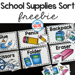School Supplies Sort Printable