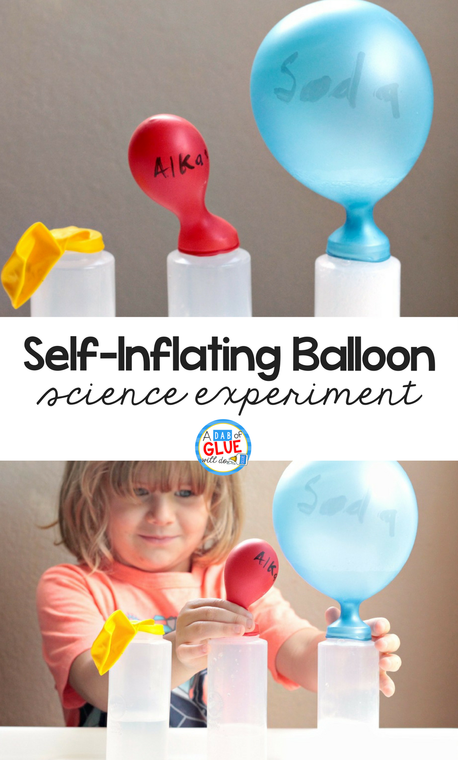 Science is all about testing, re-testing, searching, exploring, and playing. I'm almost convinced most scientists are kids who never quite grew up! Try this Self-Inflating Balloon Science Experiment with your kids today!