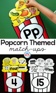 Make learning fun with these themed Initial Sound and Number Match-Ups. Your elementary age students will love this fun popcorn themed literacy center and math center! Perfect for literacy stations, math stations, or small review groups all year long. Use in your Preschool, Kindergarten, and First Grade classrooms. Black and white options available to save your color ink.