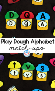 Play Dough Alphabet Match-Ups are a fun, hands-on way for students to practice learning the letters of the alphabet. This free printable is perfect for preschool and kindergarten students.