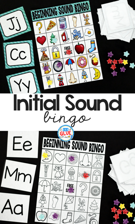 Initial Sound Bingo Sheets
