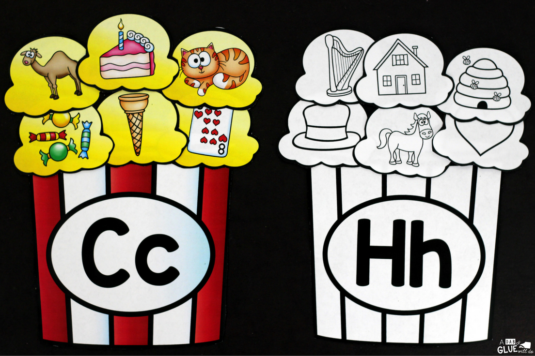 Make learning fun with these themed Popcorn Initial Sound and Number Match-Ups. Your elementary age students will love this fun popcorn themed literacy center and math center! Perfect for literacy stations, math stations, or small review groups all year long. Use in your Preschool, Kindergarten, and First Grade classrooms. Black and white options available to save your color ink.
