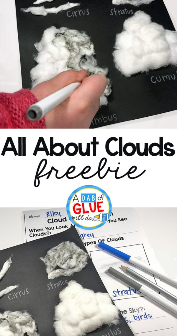 All About Clouds Activity + Free Observation Recording Sheet Freebie