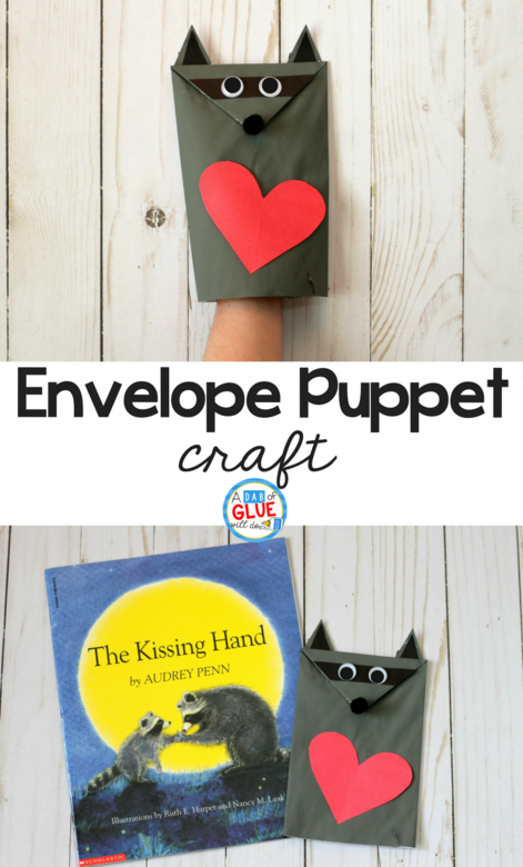 Chester the Raccoon Envelope Puppet Craft