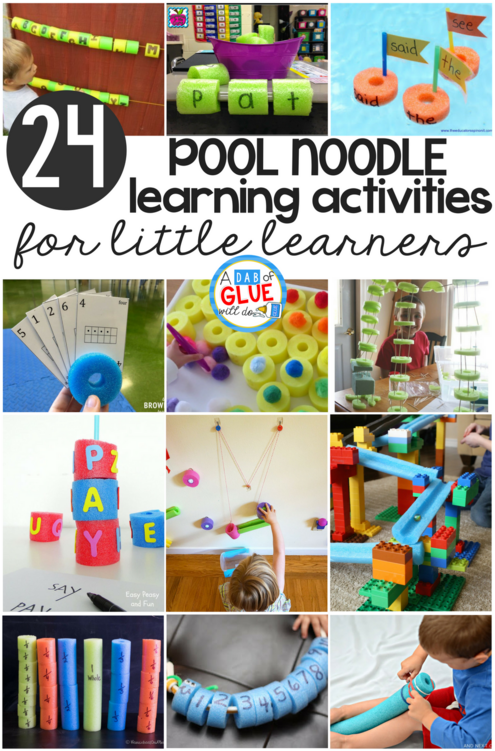 Learning Activities with Pool Noodles -