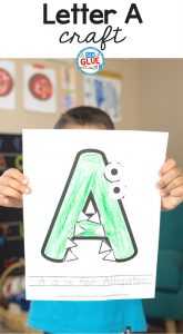 Letter of the Week, it is a practice which devotes an entire week to learning about one letter- the way it looks, how it sounds, words that begin with that letter, etc. We are starting a letter of the week series that will include a weekly printable craft for each uppercase letter of the alphabet. The printable crafts are aimed for preschool and kindergarten students and can be done at home or in the classroom. Would you like to join in on the series? Let's kick it off with the letter A craft!