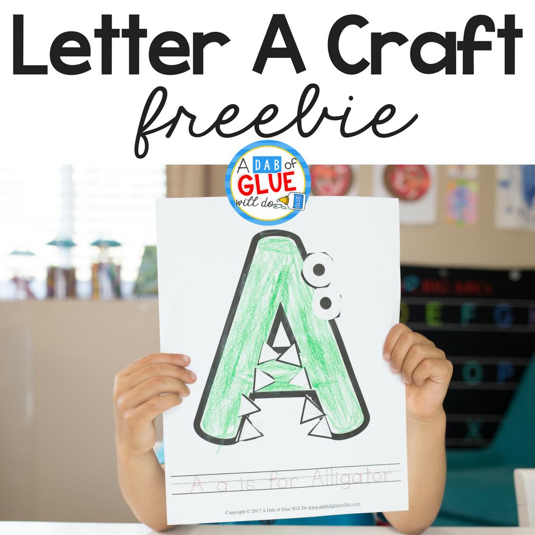 Animal Alphabet A is for Alligator Craft