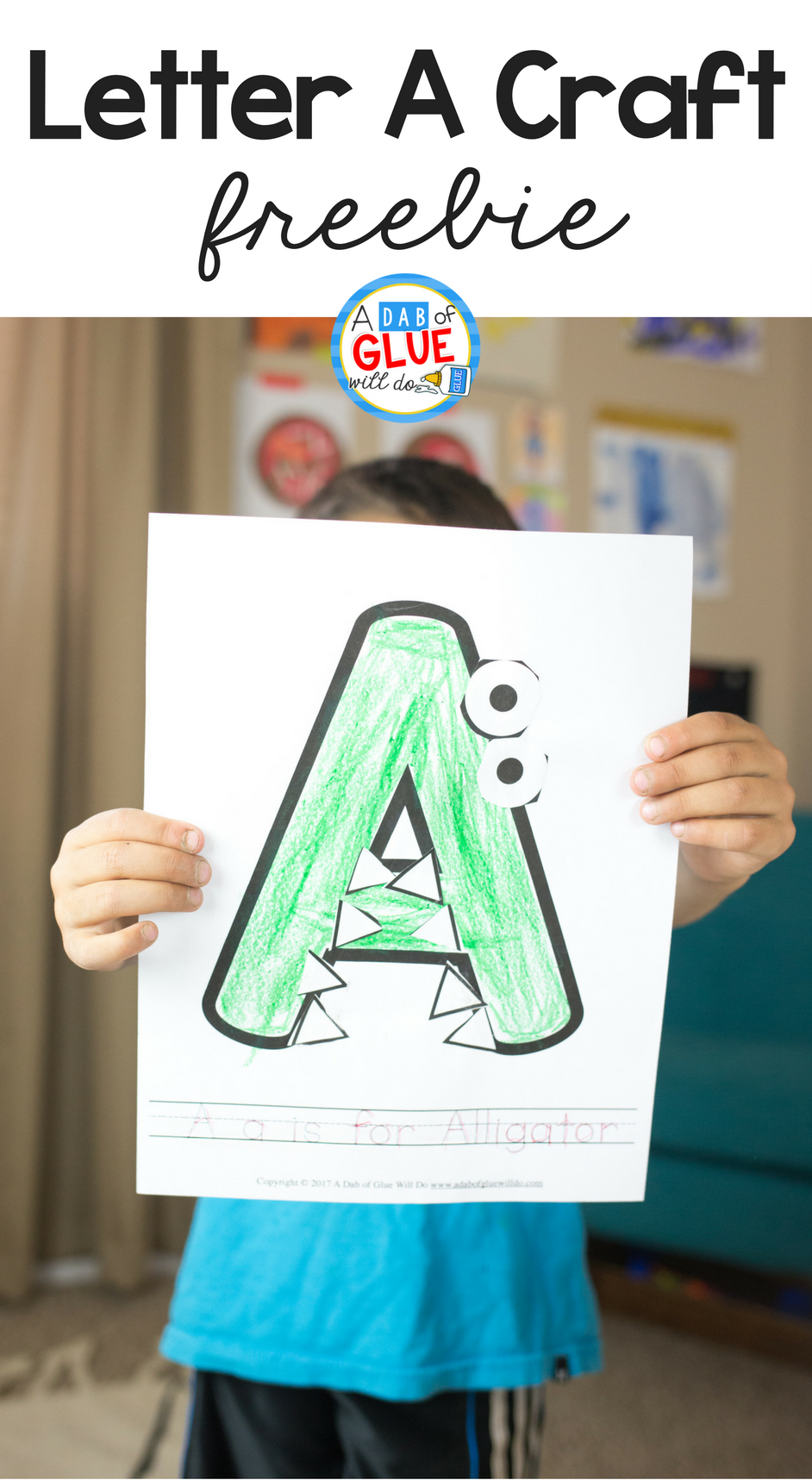 Animal Alphabet A is for Alligator Craft