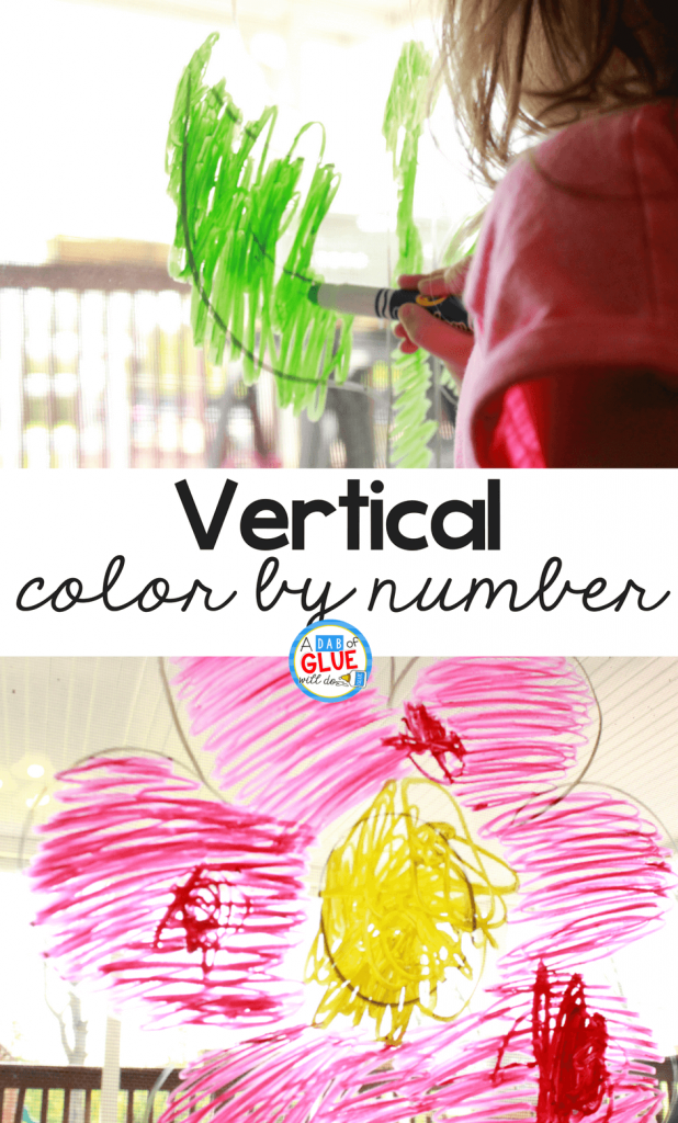 Vertical Color by Number Activity for Preschoolers